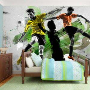 Fototapete - Soccer stars