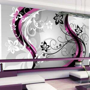 XXL Tapete - Art-flowers (pink)