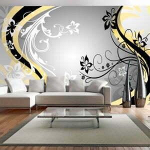 XXL Tapete - Art-flowers (yellow)