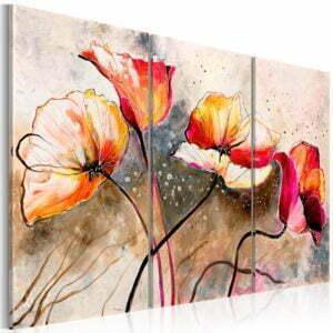Wandbild - Mohnblumen im Wind