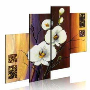 Gemaltes Bild - Weiße Orchidee