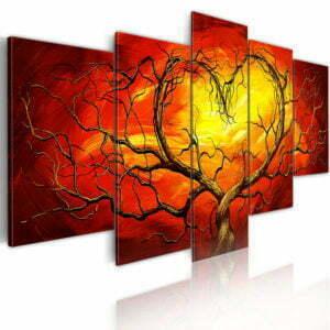 Wandbild - Glühendes Herz