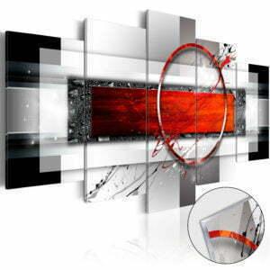 Acrylglasbild - Carmine Missile [Glass]