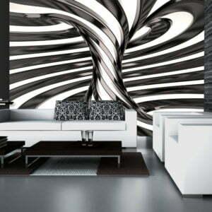 Fototapete - Black and white swirl
