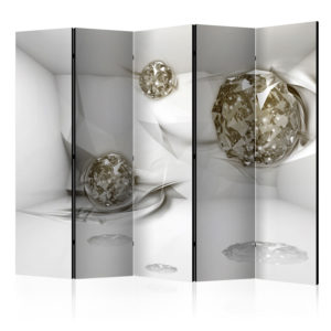 5-teiliges Paravent - Abstract Diamonds II [Room Dividers]