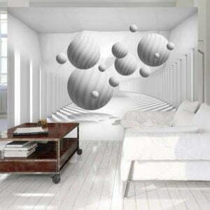 Fototapete - Balls in White