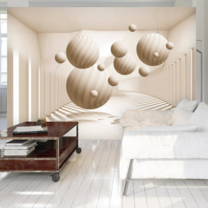 Fototapete - Beige Balls