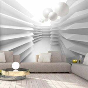 Fototapete - White Maze