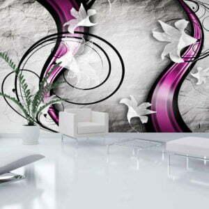XXL Tapete - Flowery Ribbon