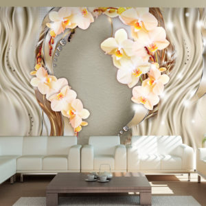 Fototapete - Wreath of orchids