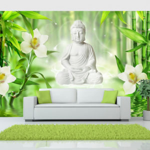 Fototapete - Buddha and nature