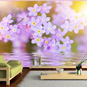 Fototapete -  Violet Petals In Bloom