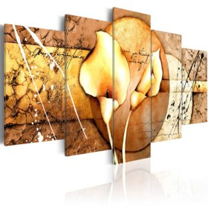 Wandbild - The Secret of Calla Lily - Gold
