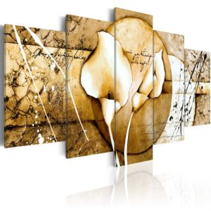 Wandbild - The Secret of Calla Lily - Beige