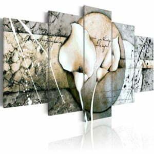 Wandbild - The Secret of Calla Lily - Grey
