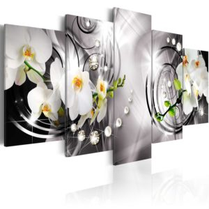 Wandbild -  Orchid, pearls and diamonds