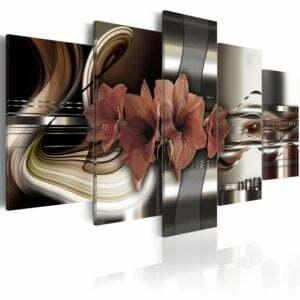Wandbild - Amaryllis - abstrakte Komposition
