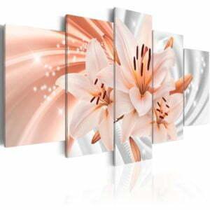 Wandbild - Coral Lilies