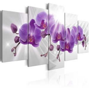 Wandbild - Abstract Garden: Purple Orchis