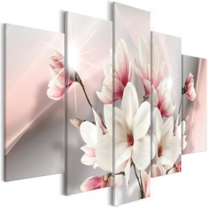 Wandbild - Magnolia in Bloom (5 Parts) Wide