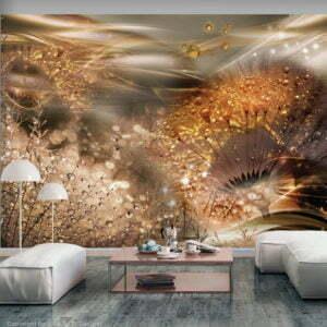 Fototapete - Dandelions' World (Gold)