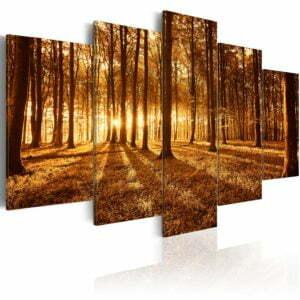 Wandbild - Amber forest