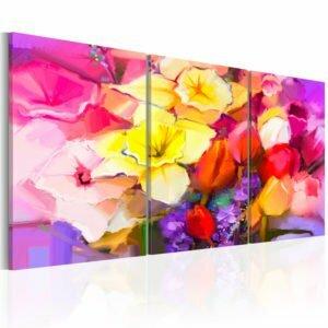 Wandbild - Rainbow Bouquet