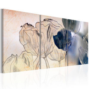 Wandbild - Sketch of Tulips