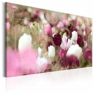 Wandbild - Meadow of Tulips