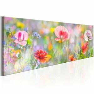 Wandbild - Rainbow of Morning Poppies