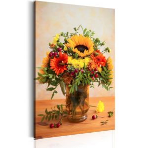 Wandbild - Autumnal Flowers