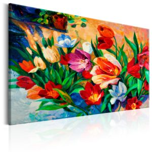 Wandbild - Art of Colours: Tulips