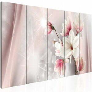 Wandbild - Dazzling Magnolias (5 Parts) Narrow