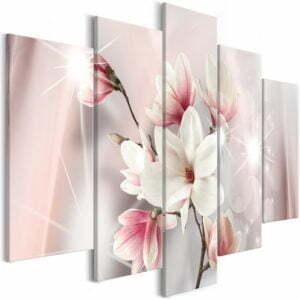 Wandbild - Dazzling Magnolias (5 Parts) Wide