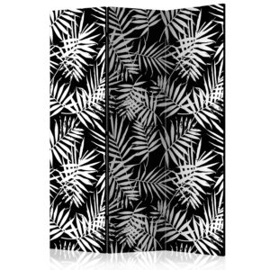 3-teiliges Paravent - Black and White Jungle [Room Dividers]
