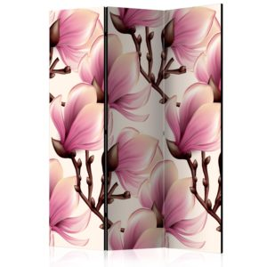 3-teiliges Paravent - Blooming Magnolias [Room Dividers]