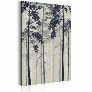 Wandbild - Forest In Fog