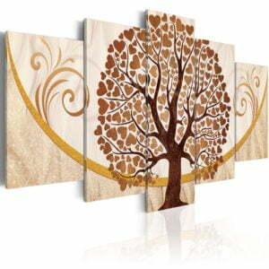Wandbild - Goldener Baum der Liebe
