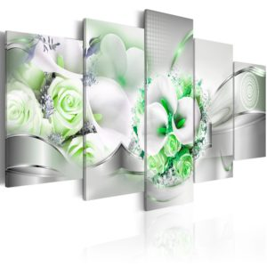 Wandbild - Emerald Bouquet