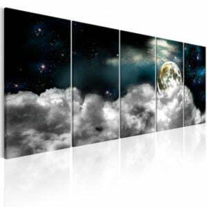 Wandbild - Moon in the Clouds I