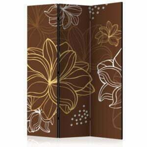 3-teiliges Paravent - Autumnal flora [Room Dividers]