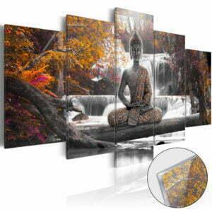 Acrylglasbild - Autumnal Buddha [Glass]