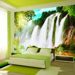 Fototapete - The beauty of nature: Waterfall