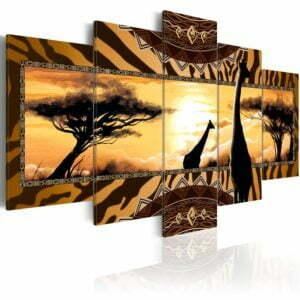 Wandbild - African giraffes