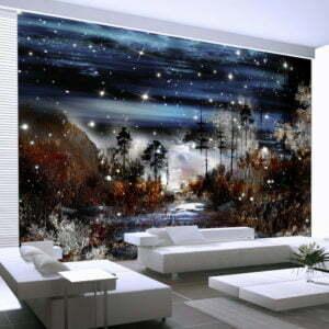Fototapete - Nacht im Wald