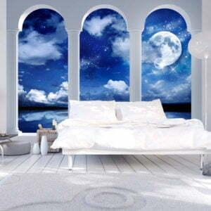 Fototapete - Griechische Nacht