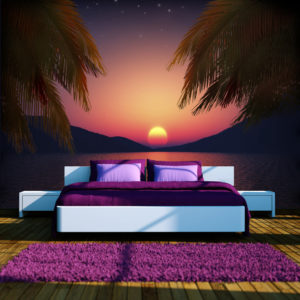 Fototapete - Romantic evening on the beach