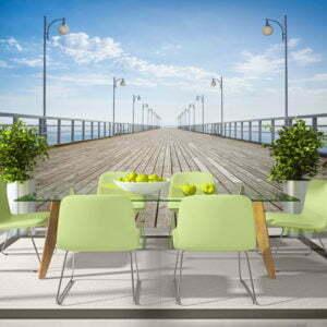 Fototapete - Auf dem Pier
