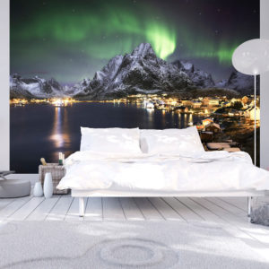 Fototapete - Aurora borealis