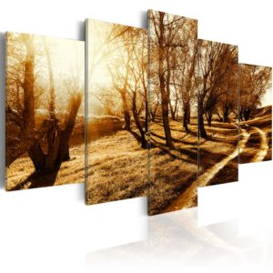 Wandbild - Amber orchard
